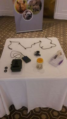 Our touch table of equipment and curios